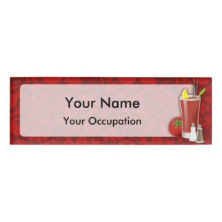 Bloody Mary cocktail name tag