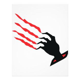 bloody Scratch hand Flyer