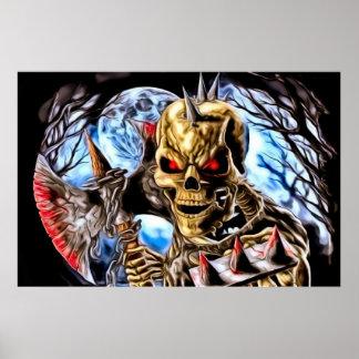 Bloody Skeleton Poster