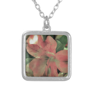 Blooming Flower Silver Plated Necklace