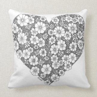 Blooming heart cushions