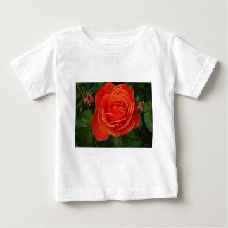 Blooming Rose Orange Red Baby T-Shirt