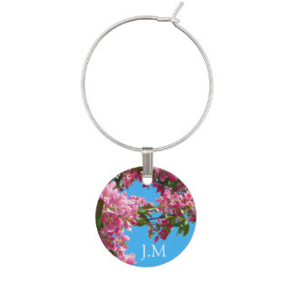 Blossom and Blue Sky Wine Charm