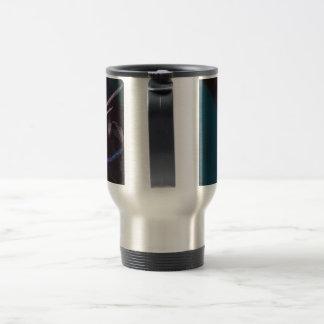 Blossom in black stainless steel travel mug