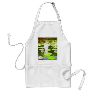 Blossom Lotus Flower In Pond Adult Apron