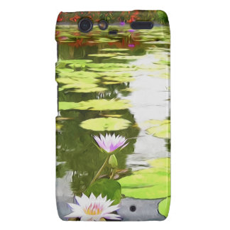Blossom Lotus Flower In Pond Droid RAZR Covers