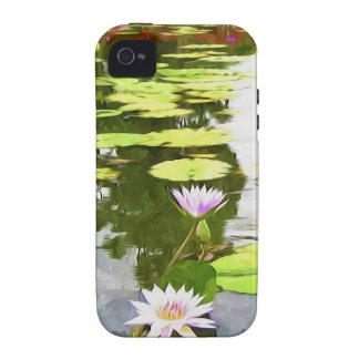 Blossom Lotus Flower In Pond Vibe iPhone 4 Cases