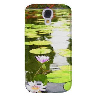 Blossom Lotus Flower In Pond Galaxy S4 Covers