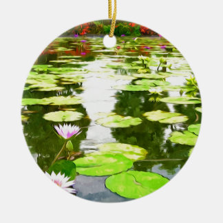 Blossom Lotus Flower In Pond Ornament