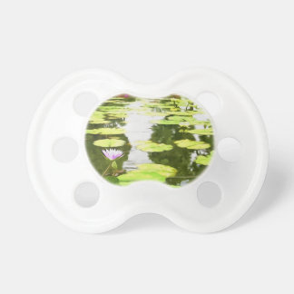 Blossom Lotus Flower In Pond Pacifiers