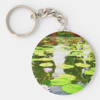 Blossom Lotus Flower In Pond Key Chains