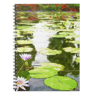 Blossom Lotus Flower In Pond Notebook