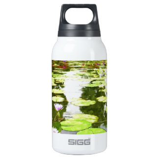 Blossom Lotus Flower In Pond 10 Oz Insulated SIGG Thermos Water Bottle