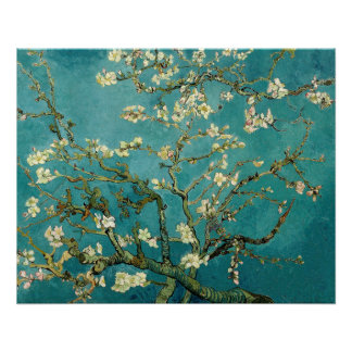 Blossoming Almond Tree Vintage Floral Van Gogh