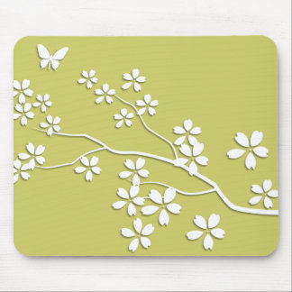Blossoms n Butterfly Customizable Color Mouse Pad