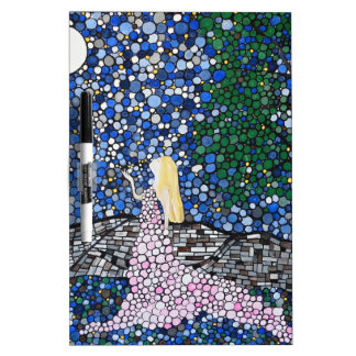 Blow a kiss to the moon dry erase board