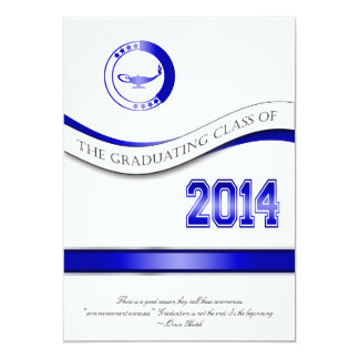 Blue 2014 Graduation Invitation/Announcement Card