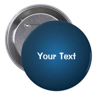 """Blue 3"""" Custom Text Button Template"""