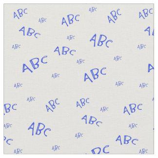 Blue ABC Fabric
