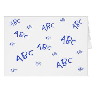 Blue ABCs Card