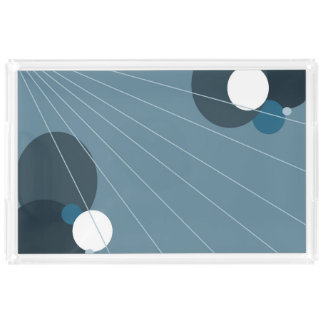 Blue Abstract Acrylic Tray
