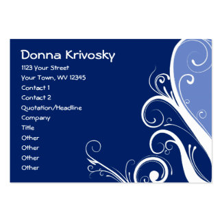 Blue Abstract Floral Business Card
