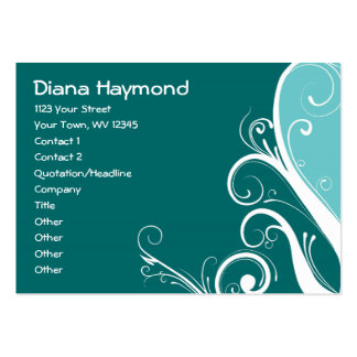 Blue Abstract Floral Business Cards