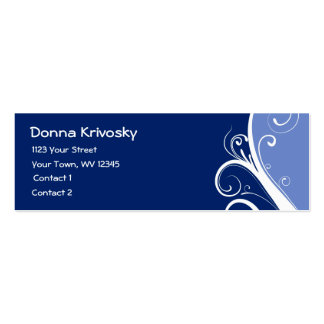 Blue Abstract Floral Business Card Template