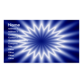 blue abstract pack of standard business cards