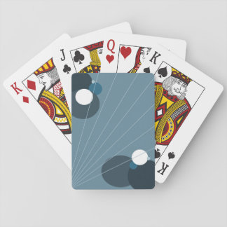 Blue Abstract Playing Cards