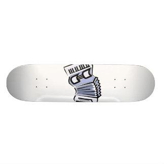 Blue accordion graphic image design, music 21.6 cm skateboard deck