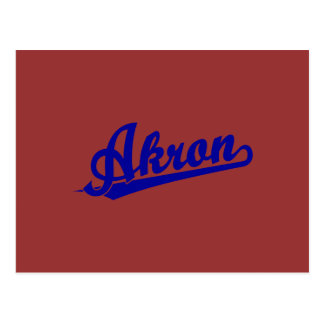 Blue Akron Postcard