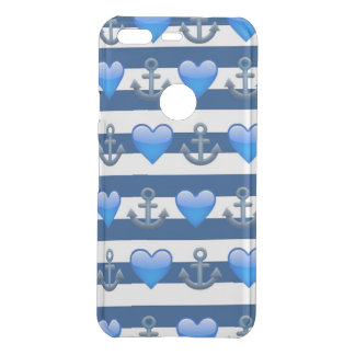 Blue Anchor Emoji Google Pixel Clearly™ Case