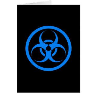 Blue and Black Bio Hazard Circle Card