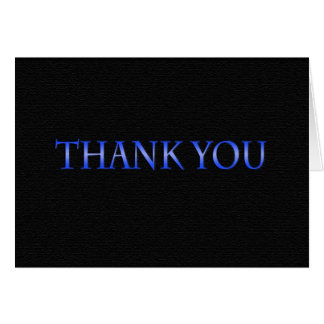 Blue and Black Class 2014 Thank You Card