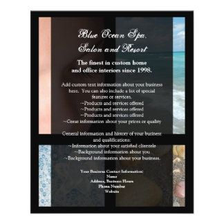 Blue and Black Luxury Spa Resort Theme Flyer
