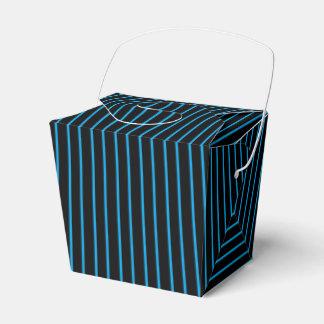 Blue and Black Pinstripe Favor Box Wedding Favour Box