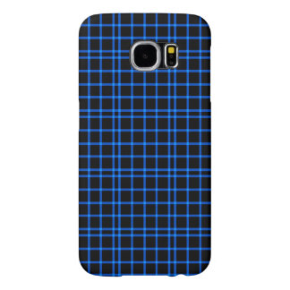 Blue and Black Tiles Pattern Samsung Galaxy S6 Cases