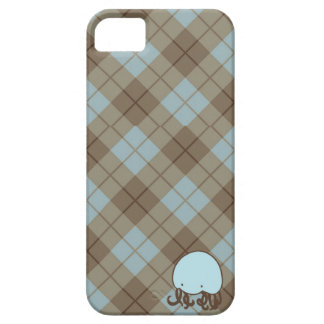 Blue and Brown Argyle Jellyfish Casemate Case