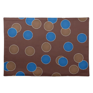 Blue and Brown Balls Placemat