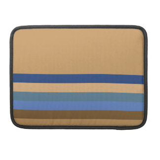 Blue and Brown Stripes Sleeve For MacBook Pro