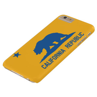 Blue and Gold California Republic Flag Barely There iPhone 6 Plus Case
