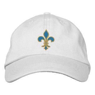 Blue and Gold Fleur De Lis Hat Baseball Cap