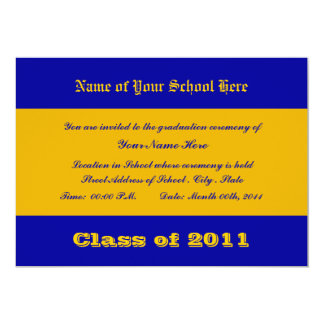 Blue and Gold School Colors Card