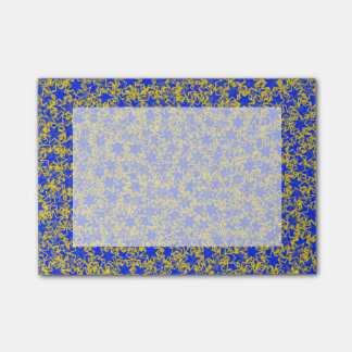 Blue and Gold Star Team Spirit Sports Colors Post-it® Notes