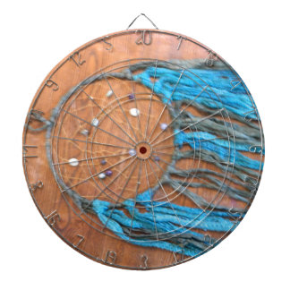 Blue and Green Dreamcatcher Dartboard With Darts