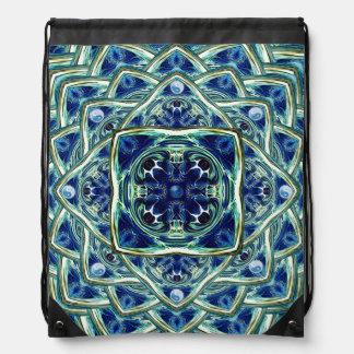 Blue and Green Earth Mandala Backpack