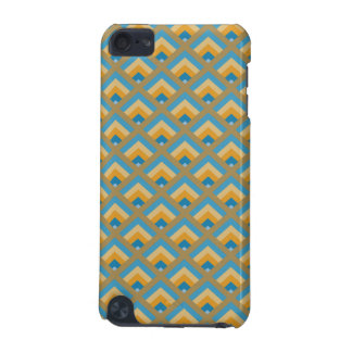 Blue and Green Geometric Men's Modern ZigZag iPod Touch 5G Cases