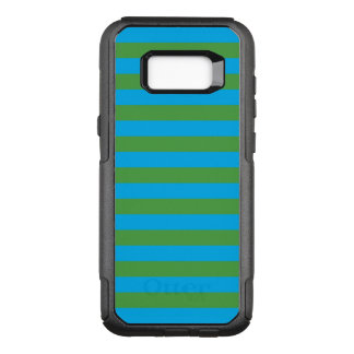 Blue and Green Horizontal Stripes OtterBox Commuter Samsung Galaxy S8+ Case