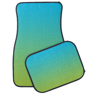 """""""Blue And Green Ombre"""" Car Mat"""